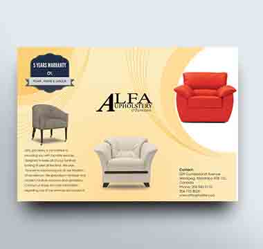 Alfa Upholstery Brochure Front