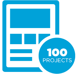 100 projects completed